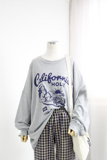 루즈핏 서프 포켓 라운드넥 티셔츠 BM38