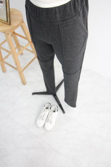 미들린 밍크 밴딩 무릎절개바지 GD1270