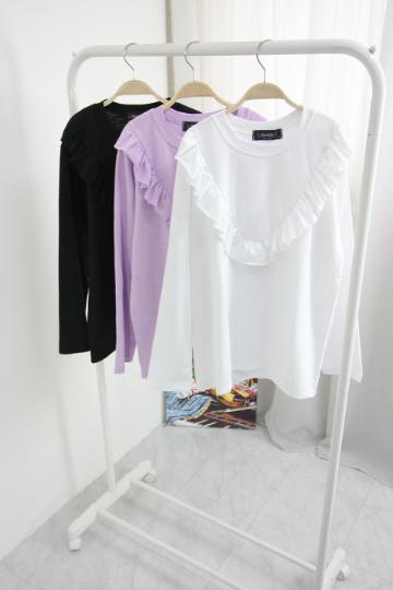 [교환반품불가] 펄스 프릴 티셔츠 LV1361