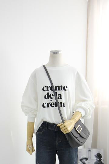 크림 데일리 티셔츠 MSM1820