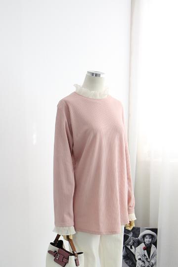 아코린 프릴 주름 티셔츠 NBN1527