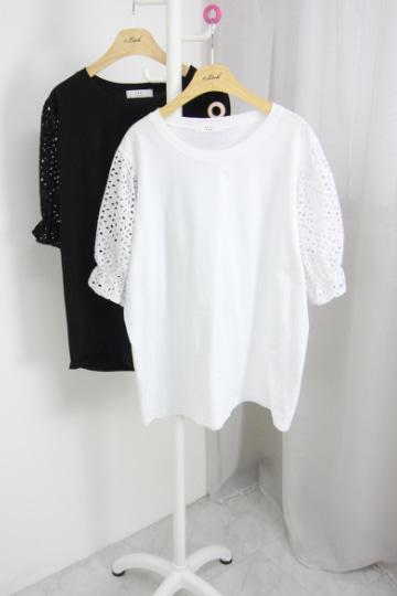 러츠 펀칭소매 티셔츠 OKI547
