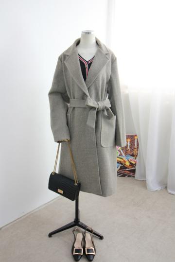사프라 허리끈 코트 STM1392