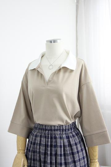 [교환반품불가]레비아 카라 티셔츠 STM1459