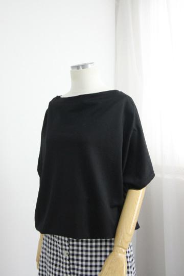 심플 터들넥 반팔 스트링 티셔츠 STM1499