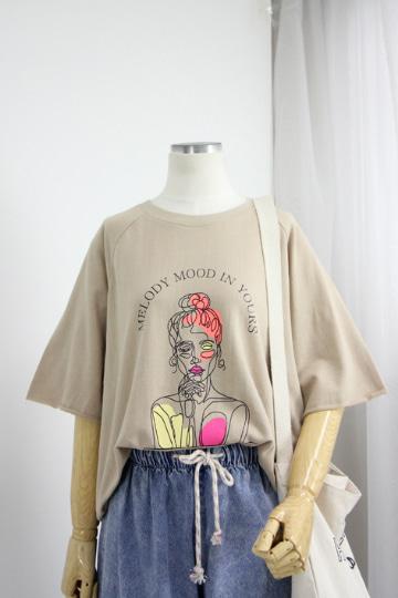멜로디 쭈리 반팔 티셔츠 STM1507
