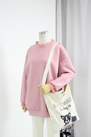 커즌 레이스 기모 맨투맨 티셔츠 TTG1100
