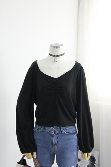 [교환반품불가] 라베른 셔링 티셔츠 YP998